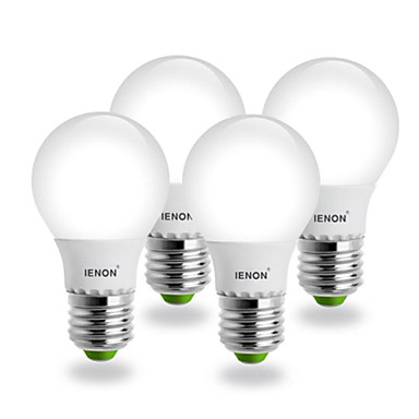 E26/E27 LED-bollampen G60 SMD 400-450 lm Warm wit AC 100-240 V 4 stuks