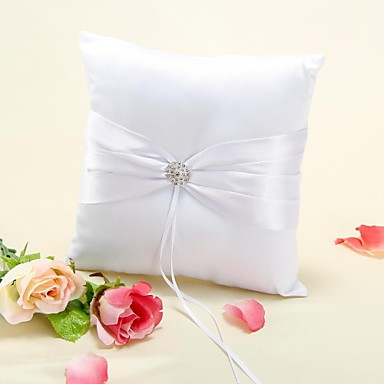 Material Beading Printing Cotton Ring Pillow Holiday Classic Theme Wedding Spring, Fall, Winter, Summer All Seasons