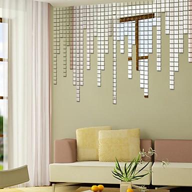 Dekoratív falmatricák - Tükör falimatrica Alakzatok Nappali szoba / Hálószoba / Fürdőszoba / Újra-pozícionálható