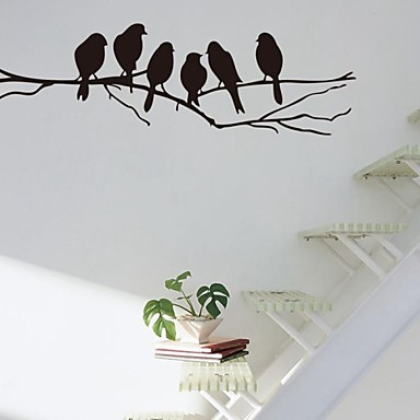 Wall Stickers Wall Decals, Branch and birds PVC Wall Stickers
