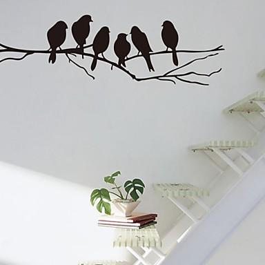 halpa Seinätarrat-Wall Tarrat Animal Wall Tarrat Koriste-seinätarrat, Vinyyli Kodinsisustus Seinätarra Seinä