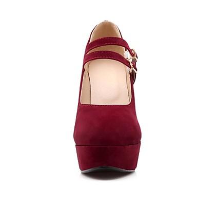 Rouge 02779481 Eté Habillé Bleu Faux Chaussures Beige Femme Printemps Bottier Talon Daim qU0F0H