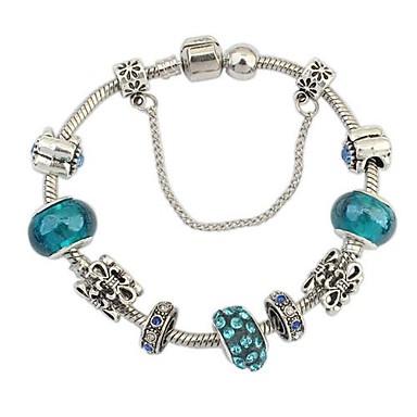 Women's Charm Bracelet - Rhinestone Unique Design, European, Fashion Bracelet Silver-Blue For Christmas Gifts