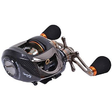 Fishing Reel Baitcasting Reel 6.3:1 Gear Ratio+14 Ball Bearings Left-handed Bait Casting / Freshwater Fishing / Bass Fishing / Lure Fishing