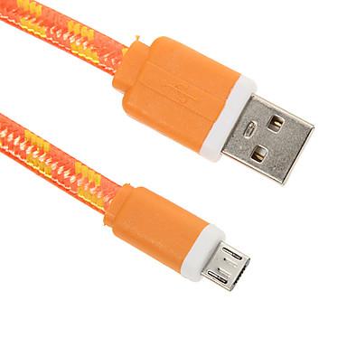 Micro USB 2.0 USB 2.0 Адаптер USB-кабеля Плетение Плоские Кабель Назначение 15 cm Нейлон