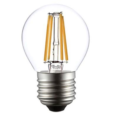 e26 / e27 led filament ampuller g45 4 cob 400lm sıcak beyaz 2800-3200k ac 220-240v