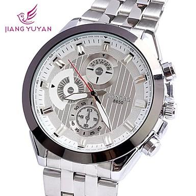 Heren Dress horloge Kwarts Legering Band Zilver Zilver/Zwart Wit/Zilver