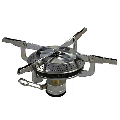 Stainless Steel Folding Stove Silver Single Camping