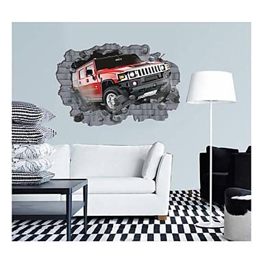 3d falimatrica fali matricák, stílus személygépkocsi ütközése falak pvc falimatrica