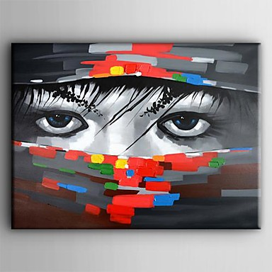 Hand-Painted People One Panel Canvas Oil Painting For Home Decoration