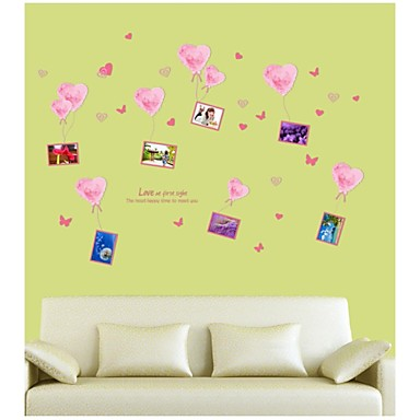 Wall Stickers Wall Decals, Style Pink Wall Photos PVC Wall Stickers