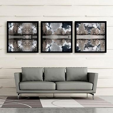 Пейзаж Холст в раме / Набор в раме Wall Art,ПВХ Черный Без коврика с рамкой Wall Art