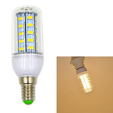 550 lm E14 LED kukorica izzók T 36 led SMD 5730 Meleg fehér AC 220-240V