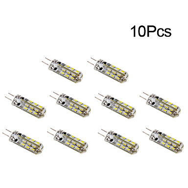10pcs 1W 300 lm G4 LED Corn Lights T 24 leds SMD 3014 Warm White Cold White DC 12V