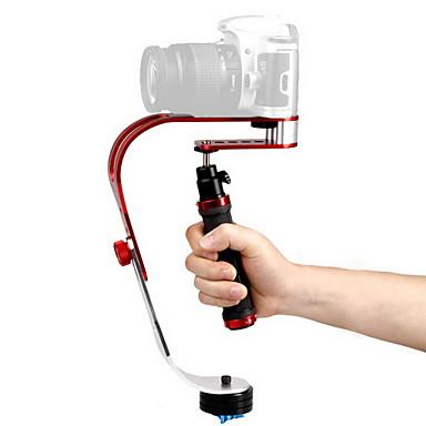 Debo Video Håndholdt Stabilisator Uf-007 Til Slr Kamera - Rød + Sort + Sølv