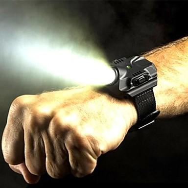 LED zseblámpák LED 5 világítás mód Újratölthető / Vízálló Több funkciós Fekete / Ezüst