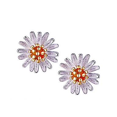 Damskie Kolczyki na sztyft Srebro standardowe Flower Shape Stokrotka Biżuteria Na