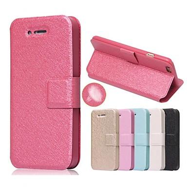 Case Kompatibilitás Apple iPhone 5 tok iPhone 6 iPhone 6 Plus iPhone 7 Plus iPhone 7 Kártyatartó Állvánnyal Flip Héjtok Tömör szín Kemény