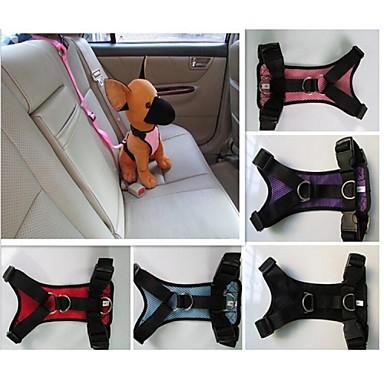 Cica Kutya Hevederek Autós ülés, hám kutyáknak / Hám, heveder Vízálló Műanyag Fekete Bíbor Piros Kék Rózsaszín