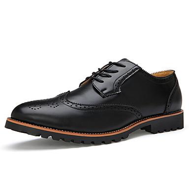 Erkek Ayakkabı Tüylü Bahar Sonbahar Bullock ayakkabı Oxford Modeli Günlük için Siyah Kahverengi