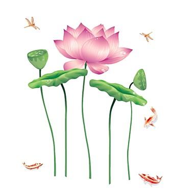 Állatok Virágok Botanikus Rajzfilm Falimatrica Repülőgép matricák Dekoratív falmatricák, Vinil lakberendezési fali matrica Fal