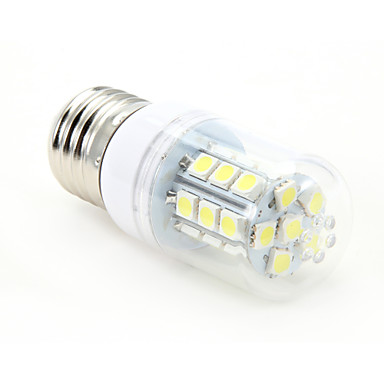 3W 300-350 lm E26/E27 LED Corn Lights T 27 leds SMD 5050 Cold White AC 85-265V