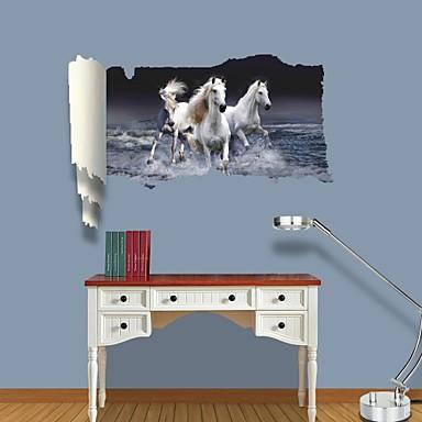 애니멀 패션 벽 스티커 3D 월 스티커 데코레이티브 월 스티커 자료 이동가능 홈 장식 벽 데칼