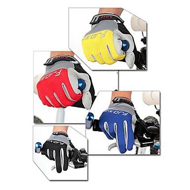 FJQXZ Szabadidős/Sport kesztyűk Kerékpáros kesztyűk Viselhető Légáteresztő Viseletbiztos Ütésálló Teljes ujj Báránybőr Kerékpározás /