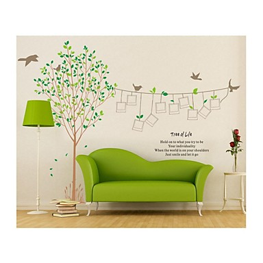 Animals Romance Botanical Cartoon Wall Stickers Plane Wall Stickers Decorative Wall Stickers, PVC Home Decoration Wall Decal Wall