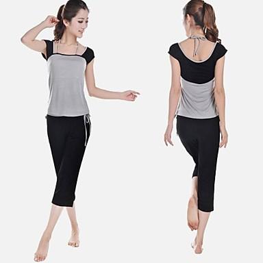 Yoga Giysi Setleri Hızlı Kuruma Antistatik Bakterileri Kısıtlar Streç Spor Giyim Kadın's Yoga