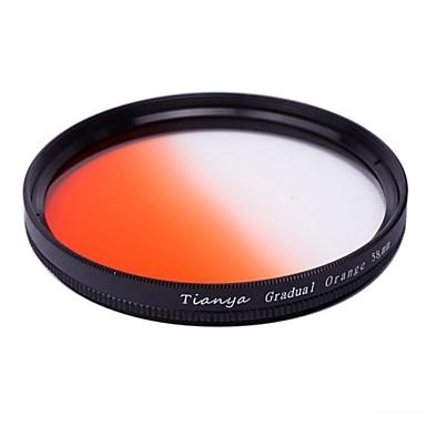 tianya® 58mm dairesel kanon 650D 700D 600D 550D 500d 60d 18-55mm lens için turuncu filtre mezun