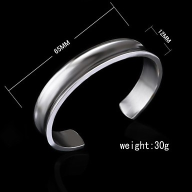 Women's - Cuff Silver Bracelet For Birthday Engagement