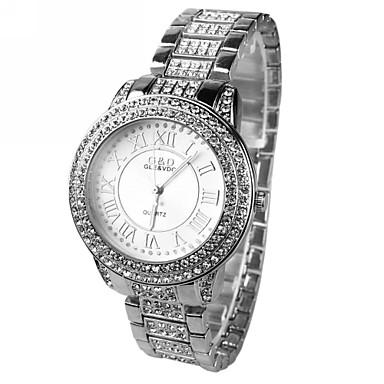 pentru Doamne Ceas Elegant Quartz imitație de diamant Aliaj Bandă Sclipici Argint Argintiu