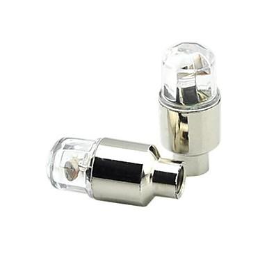 Fietsverlichting / wiel lichten / ventieldopje zwaailichten Wielrennen alarm / achtergrondverlichting CR2032 / AG10 / button batterij