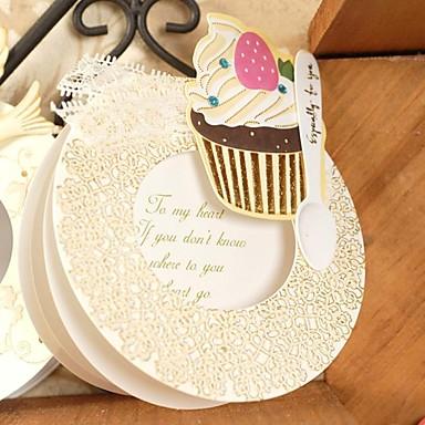 Сложенные Свадебные приглашения Спасибо карты Цветочный стиль Картон 12,5*12,5 см Цветы