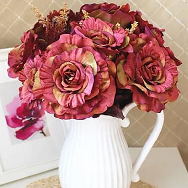 Une succursale Soie Roses Fleur de Table Fleurs artificielles #(17.72x11.81x11.81)