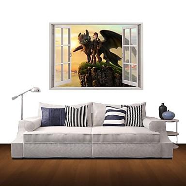 Τοπίο Άνθρωποι Κινούμενα σχέδια Αυτοκολλητα ΤΟΙΧΟΥ 3D Αυτοκόλλητα Τοίχου Διακοσμητικά αυτοκόλλητα τοίχου, Βινύλιο Αρχική Διακόσμηση Wall