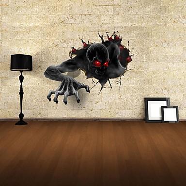 Animals Rysunek Krajobraz 3D Naklejki Naklejki ścienne 3D Dekoracyjne naklejki ścienne Materiał Removable Dekoracja domowa Naklejka