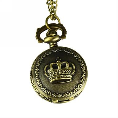 Herrn Quartz Taschenuhr Armbanduhren für den Alltag Legierung Band Charme Bronze