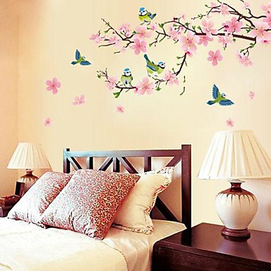 Botanisch Romantiek Stilleven Mode Bloemen Fantasie Wall Stickers Vliegtuig Muurstickers Decoratieve Muurstickers Bruiloftsstickers,Papier
