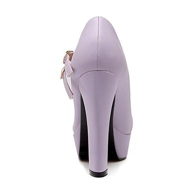 Femme Gros Violet Eté Talon Chaussures Beige Automne Vert Pour Rose Habillé Printemps Similicuir 02779480 Avec rrqw4H