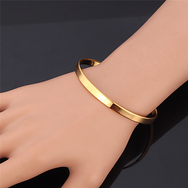 Women's Gold Plated Bangles Bracelet - Fashion Golden Bracelet For Christmas Gifts Wedding Party