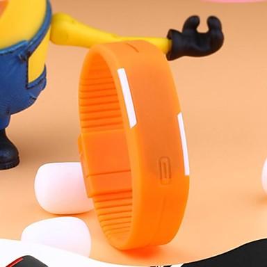 Homme Montre de Sport Numérique LED Ecran Tactile Calendrier Etanche Caoutchouc Bande Noir Blanc Bleu Rouge Orange Vert Gris Rose Violet