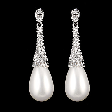 Women's Drop Earrings - Fashion Silver For Daily / Pearl
