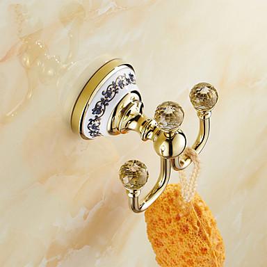 목욕 가운 후크 네오클래식 놋쇠 크리스탈 세라믹 1개 - 호텔 목욕