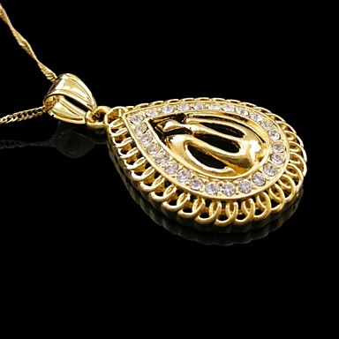 Men's / Women's Pendant Necklace - Resin, Gold Plated Necklace For Wedding, Party, Daily