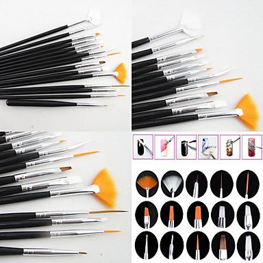 15pcs Nagel Acryl Pinsel Nagelbürsten Neuartige Nagel Kunst Maniküre Pediküre Holz / Nylon / Metal Klassisch / nette Art Alltag