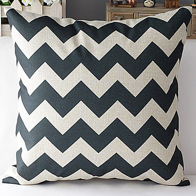 Modern Style White Heart-Shaped Patterned Cotton/Linen Decorative Pillow Cover