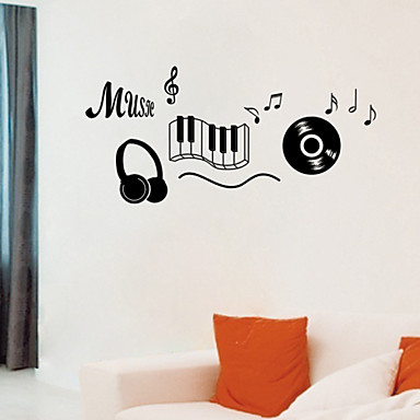 Music Wall Stickers Plane Wall Stickers Decorative Wall Stickers, Vinyl Home Decoration Wall Decal Wall
