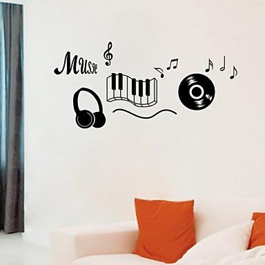Musikk Veggklistremerker Fly vægklistermærker Dekorative Mur Klistermærker, Vinyl Hjem Dekor Veggoverføringsbilde Vegg